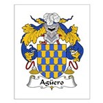 Aguero Family Crest Small Poster