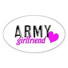Army girlfriend Oval Decal