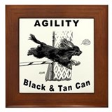 Black & Tan Cavalier Agility Framed Tile