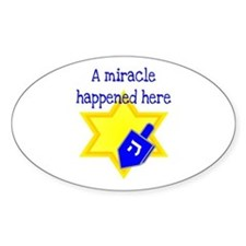 A Miracle Happened Here Oval Decal