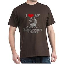 I Love My AmStaff Men's T-Shirt