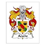 Acurio Family Crest Small Poster
