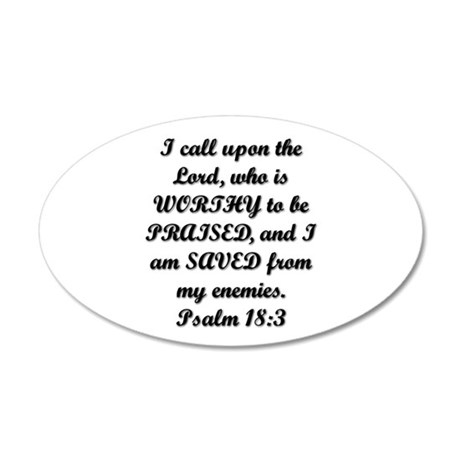 Psalm 18:3 Wall Decal