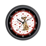 Great Dane Brindle Kiss Wall Clock