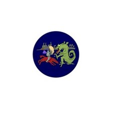 Fighting the Dragon Mini Button (100 pack)