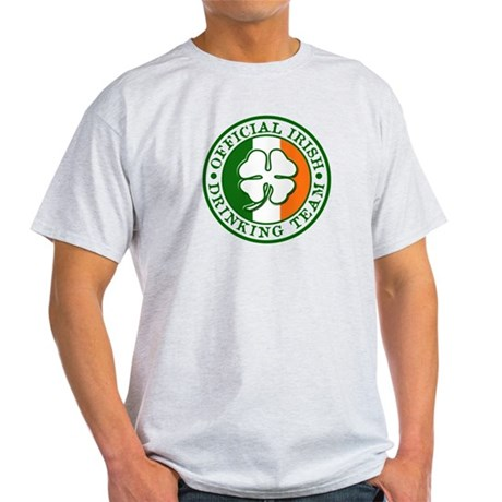 Official Irish Drinking Team Ash Grey T-Shirt