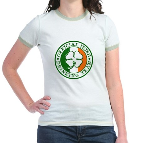 Official Irish Drinking Team Jr Ringer T-shirt