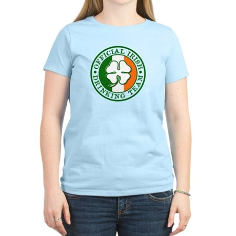 Official Irish Drinking Team Womens Pink T-Shirt