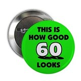 60th Birthday - Happy Birthda Button