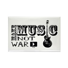 Make Music, Not War Rectangle Magnet