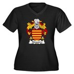 Abogadro Family Crest Women's Plus Size V-Neck Dar