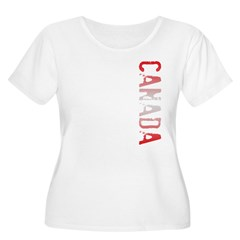 Canada Women's Plus Size Scoop Neck T-Shirt