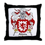 Abinia Family Crest Throw Pillow