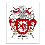 Abinia Family Crest Small Poster