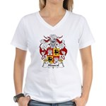 Abascal Family Crest Women's V-Neck T-Shirt