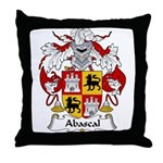 Abascal Family Crest Throw Pillow
