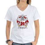 Abarbanel Family Crest Women's V-Neck T-Shirt