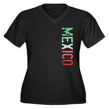 Mexico Women's Plus Size V-Neck Dark T-Shirt