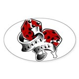 Resden Tattoo Dice Art Oval Decal