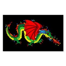 Colorful Dragon Rectangle Decal