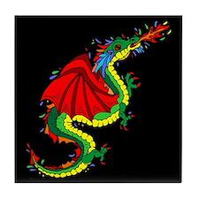 Colorful Dragon Tile Coaster
