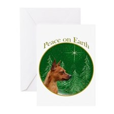Min Pin Peace Greeting Cards (Pk of 20)