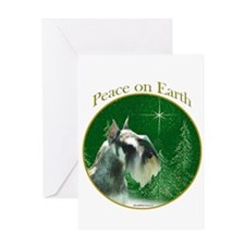 Mini Schnauzer Peace Greeting Card