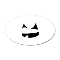 Cute Scary Jack-O-Lantern Pu 20x12 Oval Wall Decal