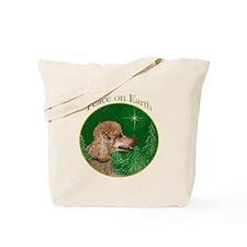 Poodle Peace Tote Bag