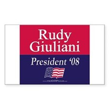 """Rudy Giuliani 2008"" Rectangle Decal"