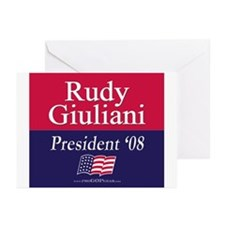 """""""Rudy Giuliani for President"""" Greeting Cards (6)"""