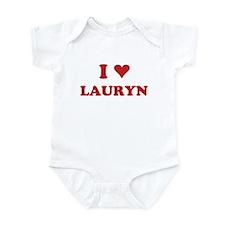 I LOVE LAURYN Infant Bodysuit