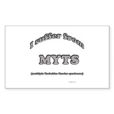 Yorkie Syndrome Rectangle Decal