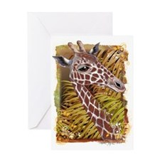 Giraffe, Jungle, Africa, Zoo Greeting Card