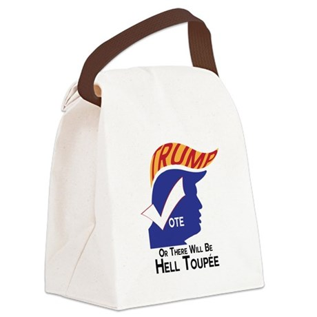 Vote Trump Hell Toupee Canvas Lunch Bag