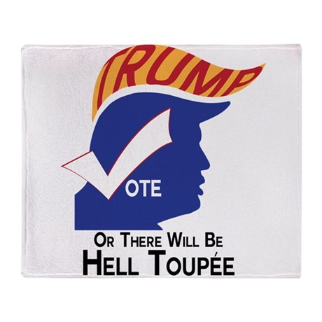 Vote Trump Hell Toupee Throw Blanket
