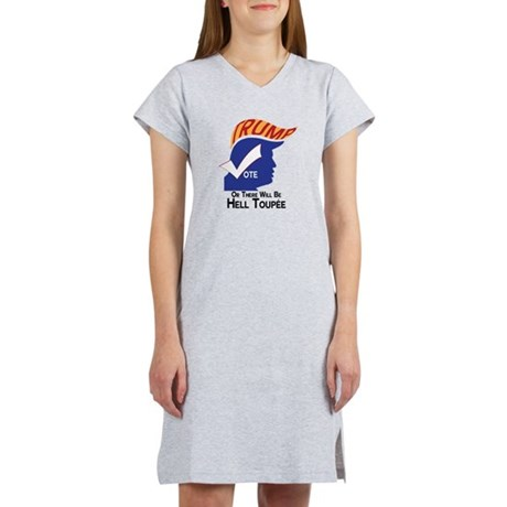 Vote Trump Hell Toupee Women's Nightshirt