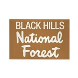 Black Hills (Sign) National F Rectangle Magnet