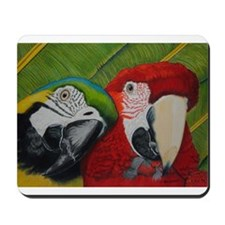 Blue macaw Mousepad