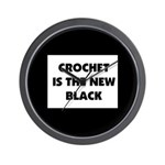 Crochet Is the New Black Wall Clock