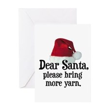 Santa Bring More Yarn Greeting Card