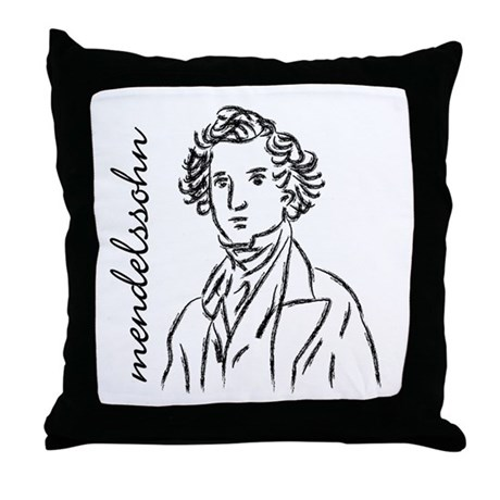 Felix Mendelssohn Throw Pillow