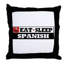 Eat Sleep Spanish Throw Pillow