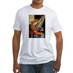 Madonna/Rottweiler Fitted T-Shirt
