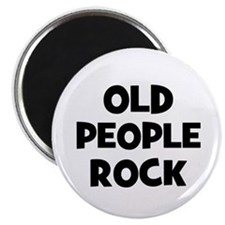 Old People Rock Magnet