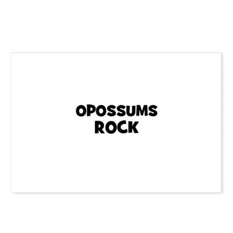 opossums rock Postcards (Package of 8)