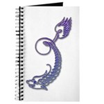 Blue Calligraphic Dragon Journal