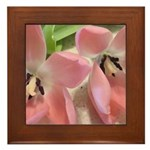 Pink Tulips In Bloom Framed Tile