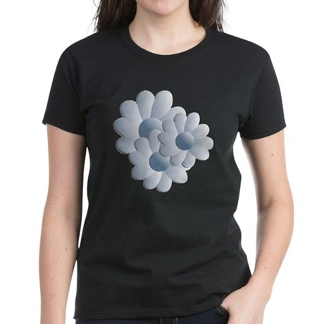 Pretty Daisy Trio - Blue Women's Dark T-Shirt