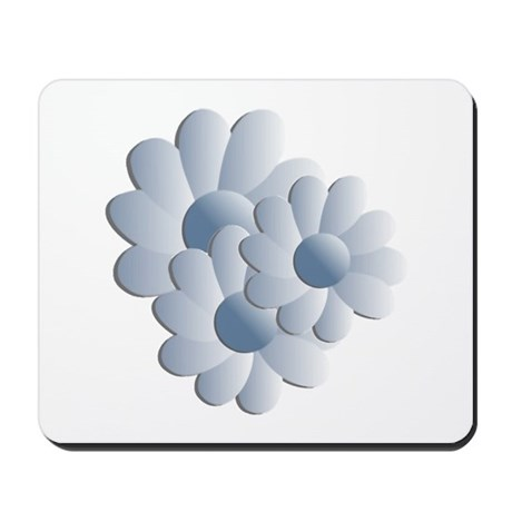 Pretty Daisy Trio - Blue Mousepad